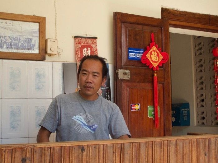 George Shum, owner of the Chinese Pagoda Restaurant in Stone Town, Zanzibar, Tanzania