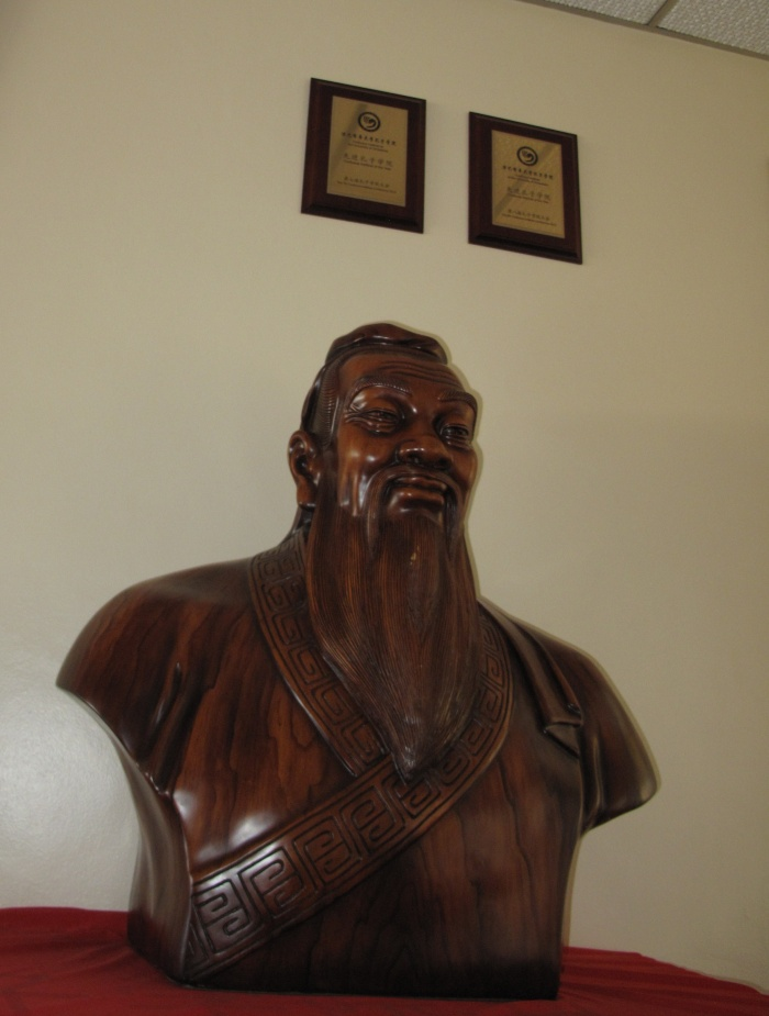 Statue of Confucius at the University of Zimbabwe's Confucius Institute