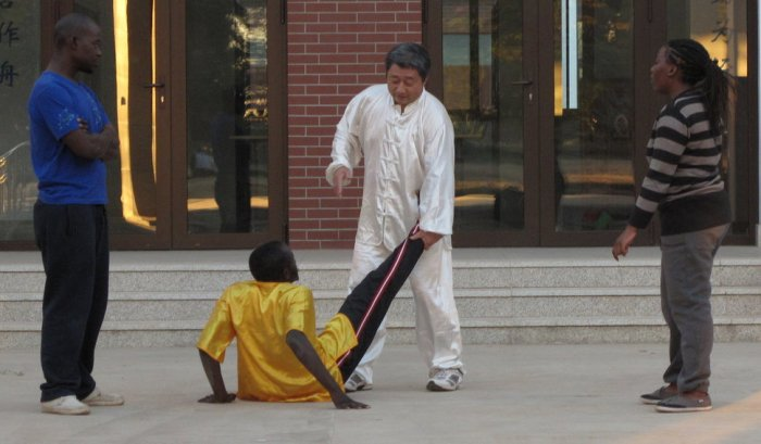 Master Liu, the Kung Fu teacher at Zambia's Confucius Institute