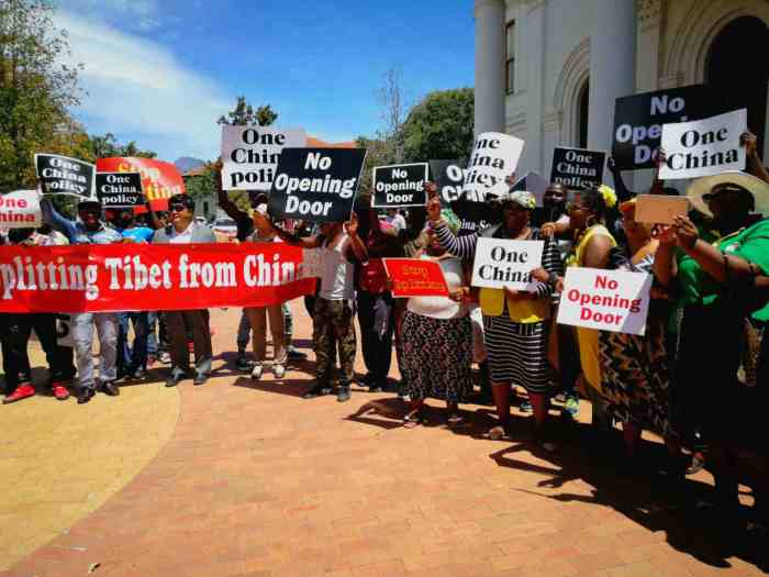 Anti-Sangay protest at Stellenbosch University